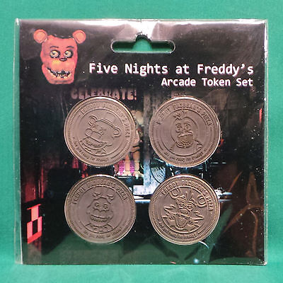 Five Nights At Freddys Arcade Token Set Of 4 Coins Sealed