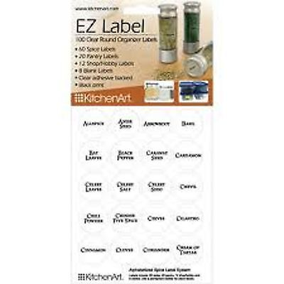 KitchenArt 17005 EZ Spice Label Set, 100-Piece