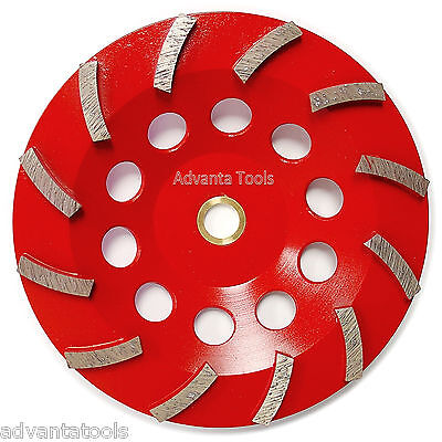 7 Spiral Turbo Concrete Diamond Grinding Cup Wheel 12 Segs 78-58 Arbor