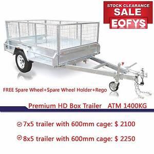 EOFY SALE ATM 1400kg  7X5 8X5 HD TRAILERS PREMIUM RANGE Rocklea Brisbane South West Preview
