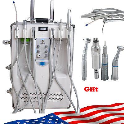 Us Dental Set Portable Delivery Unitair Compressor3way Syringe Handpiece Kit