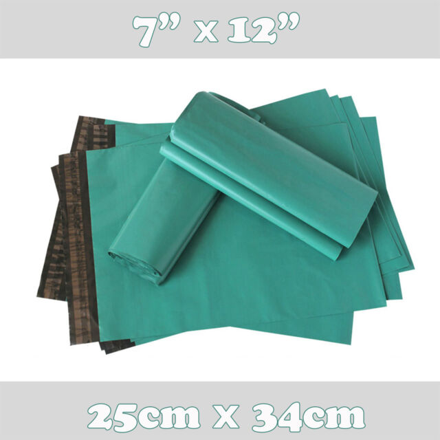 "500x Strong Green Plastic Mailing Postal Poly Postage Packing Bags 7x12"" 25x30cm"