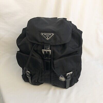 Authentic Vintage Classic PRADA Nylon Backpack Black