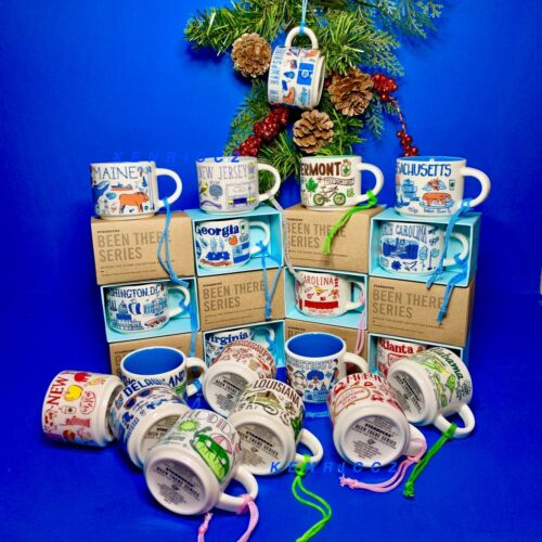 Starbucks BEEN THERE series - Demi Holiday Ornament Mug -YOU PICK - mini mug