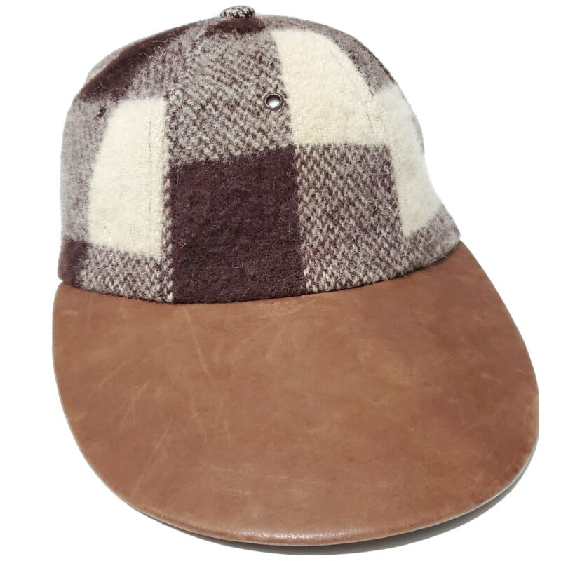 1970s Ralph Lauren Wool Leather Stretch Hat Large Vintage 80s Outdoors Sportsman