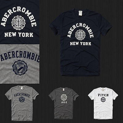 New Abercrombie   Fitch Men Muscle Fit  Heritage Tee T Shirt Size S M L Xl Nwt