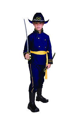 UNION OFFICER CHILD COSTUME CIVIL WAR SOLDIER KIDS BOY UNIFORM BLUE GENERAL - Union Officer Uniform