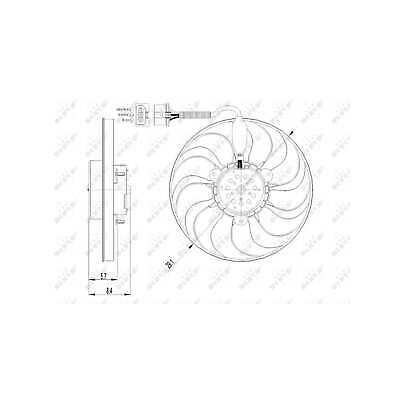 Genuine NRF Engine Cooling Radiator Fan - 47398