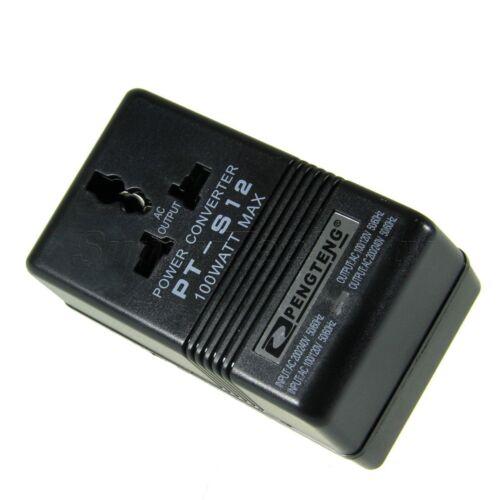 100W AC 110V/120V to 220V/240V Dual Voltage Transformer Power Converter Adapter