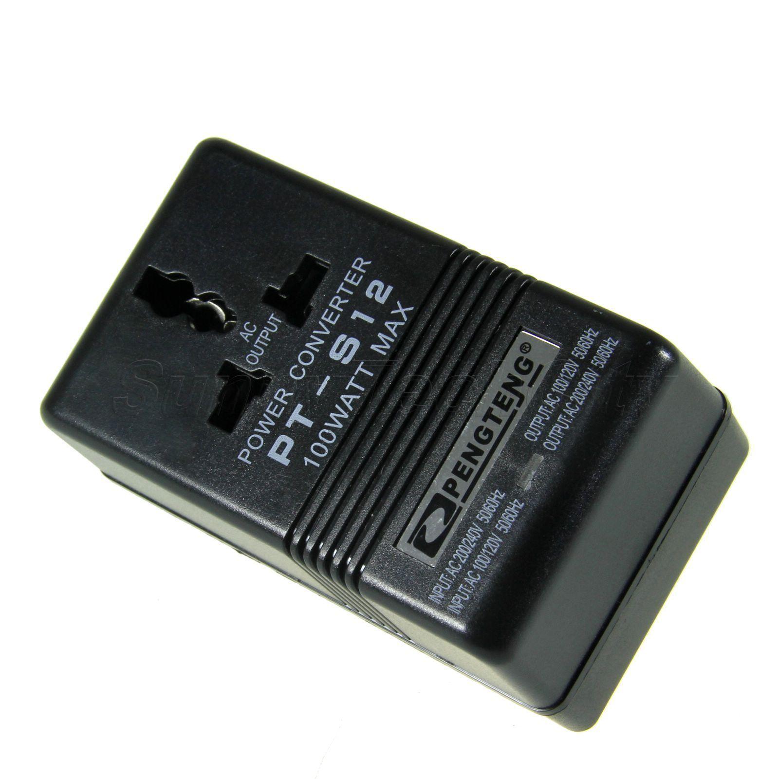 100W AC 110V/120V to 220V/240V Dual Voltage Transformer Power Converter Adapter Electrical Supplies