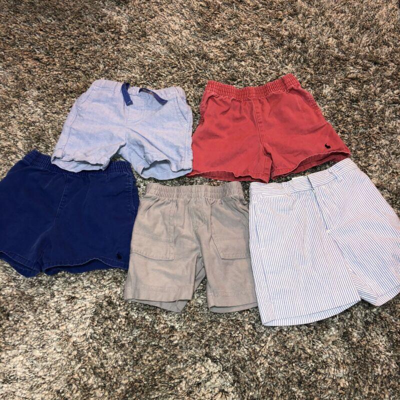 Lot of 5 Baby Boys 12-18M Month summer Play shorts Polo Ralph Lauren Nautica Tea