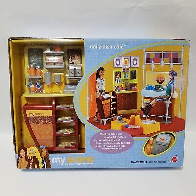 Barbie My Scene Daily Dish Cafe Playset 2003 RARE NEW Pastry Coffee Bar C1228