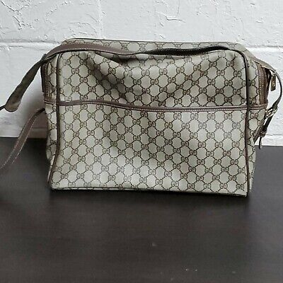 Vintage Gucci Supreme Tan Monogram Carryall/ Messenger Bag