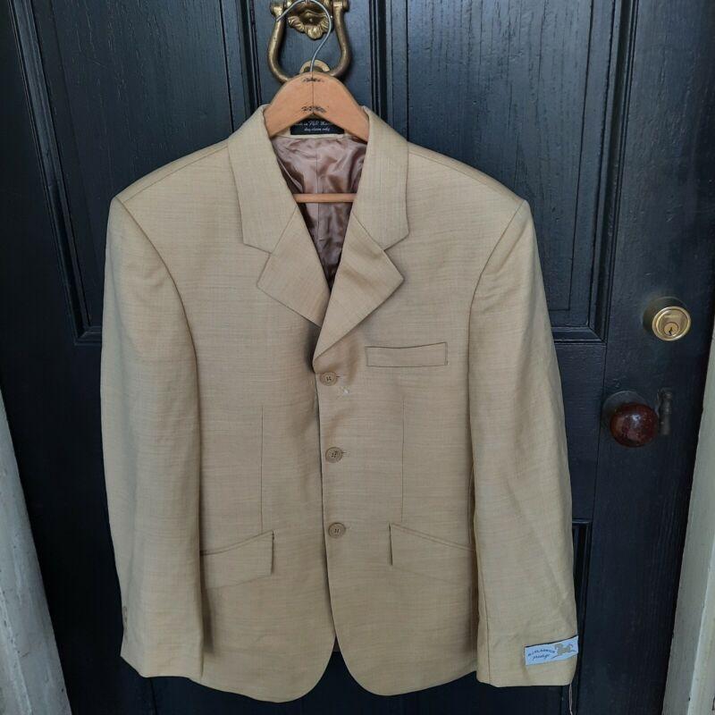 NWT RJ CLASSICS National Mens 34S Tan Riding Jacket Hunt Coat 34 Short