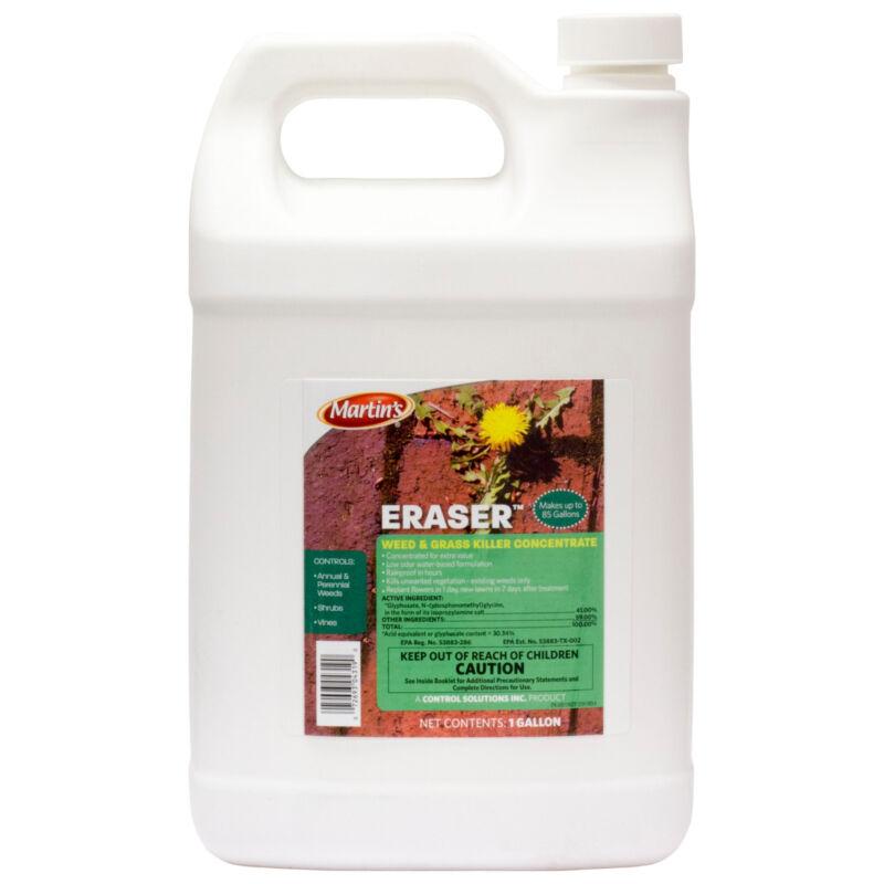 Glyphosate Herbicide 41% 1 Gal Eraser Herbicide w/ Surfactant Weed Grass Killer