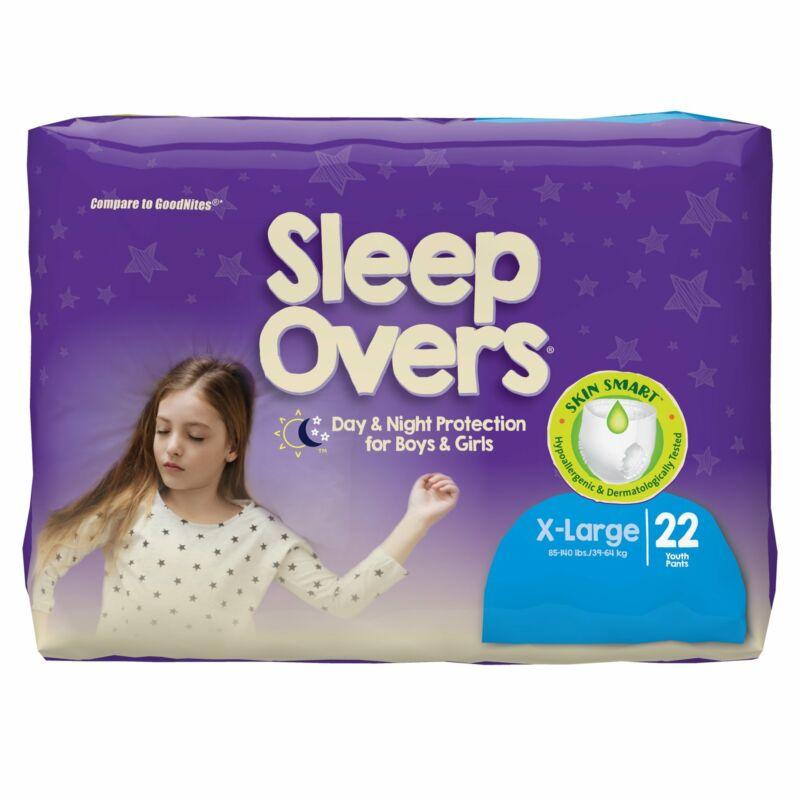 Cuties Sleep Overs Youth Underwear X-Large 85 to 140 lbs. SLP05303 88 Ct