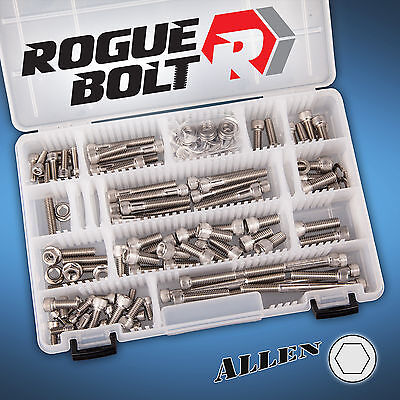 SMALL BLOCK FORD SBF STAINLESS ENGINE ALLEN BOLT KIT 260 289 302 351W DRIVER H20 (Stainless Allen Bolt Engine)