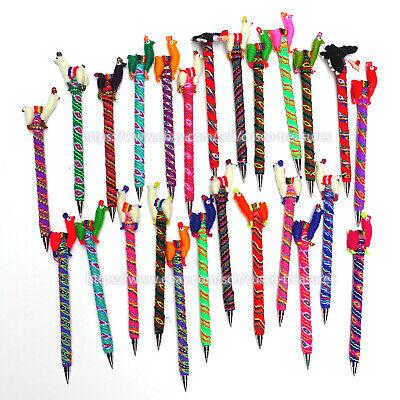 Wholesale Of 5 Alpaca Pens Pens Peruvian Alpaca Pen Covered Andean Textile