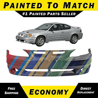 NEW Painted To Match Front Bumper Cover for 1999-2005 Pontiac Grand Am GT 99-05 Pontiac Grand Am Bumper Cover