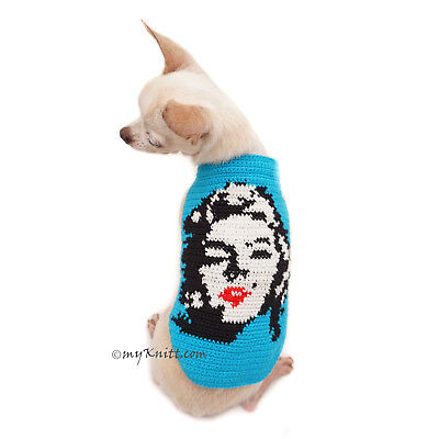 Marilyn Monroe Dog Clothes Crochet, Cross Stitch, Pet Costume Personalized F118
