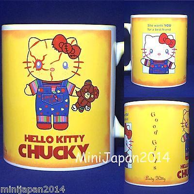 Hello Kitty Cups (Hello kitty x Chucky original design 11 oz cup coffee mug LadyKitty)