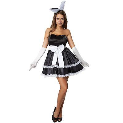 Damen Hasen Kostüm Fasching Karneval Halloween Kleid sexy Hase Bunny Erotik neu