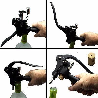 Premium Rabbit Ear Style Corkscrew Wine Bottle Cork Opener wth Stand Foil Cutter