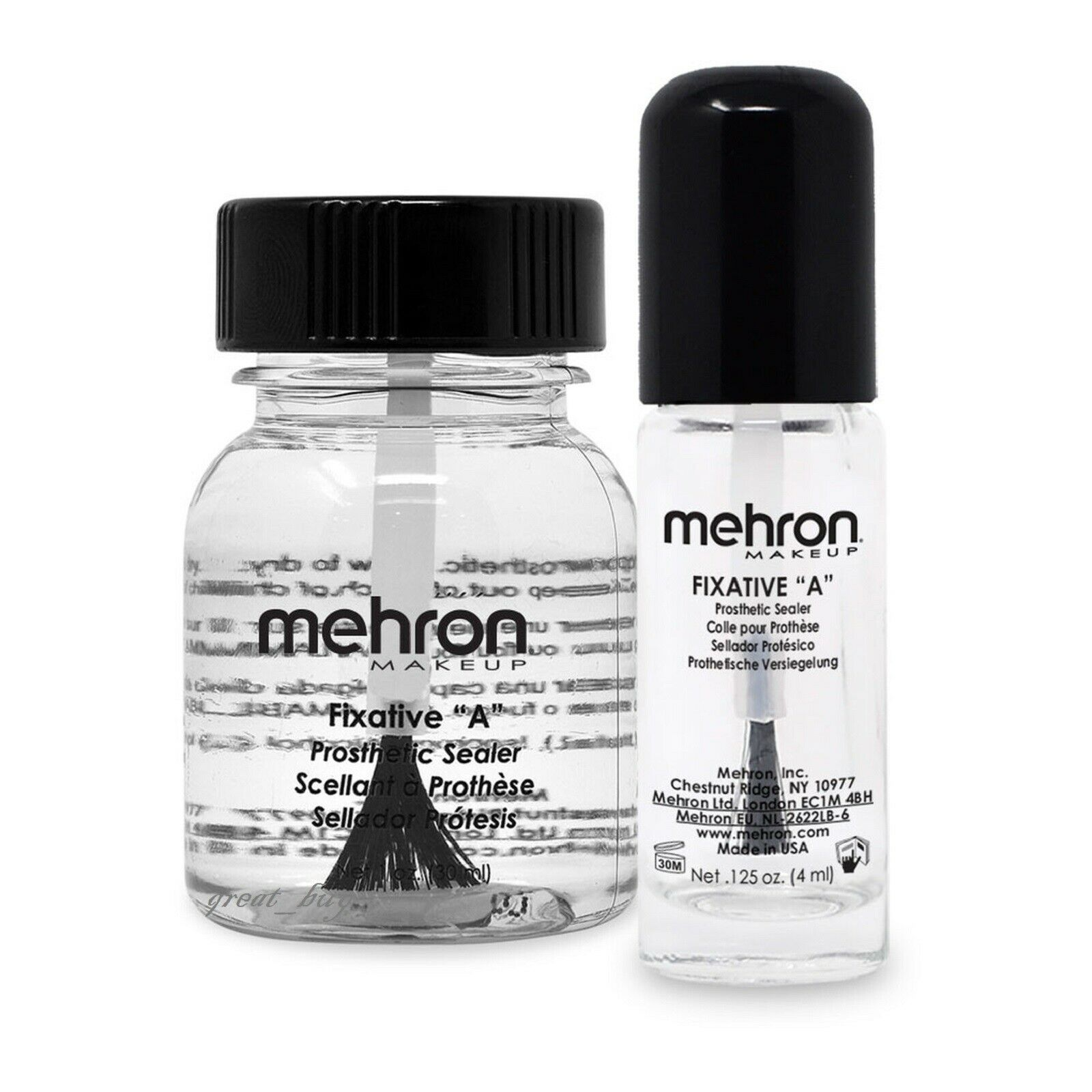 "Mehron Fixative /""A/"" Prosthetic Sealer Stage Theatrical Makeup"