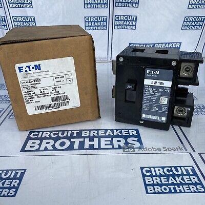 New In Box Eaton Bw2200 2 Pole 200 Amp 120240v Maincircuit Breaker-warranty