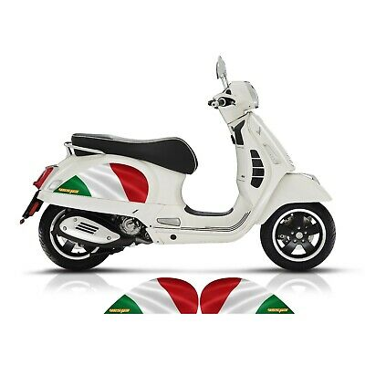 VESPA GT GTS 125 200 250 300 SIDE PANEL ITALIAN FLAG DECALS STICKERS DECALS
