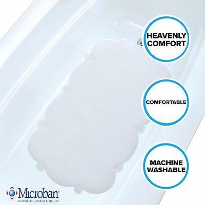 SlipX Solutions Mildew Resistant Clear Cloud Shaped Bath Mat