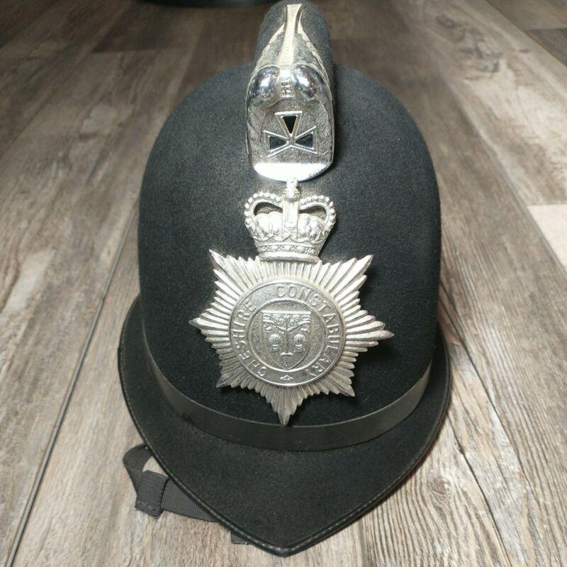 Original British BOBBY Helmet Hard Cap CHESHIRE CONSTABULARY United Kingdom