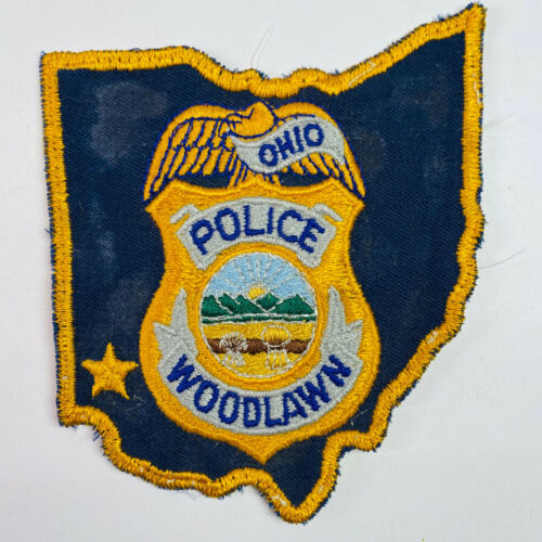 Woodlawn Police Hamilton County Ohio OH State Shaped Patch (B1)