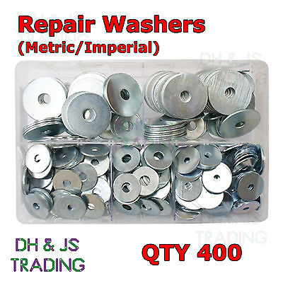 Assorted Box of Repair Washers 3/16 1/4 5/16 3/8 I/D BZP Qty 400 M5 M6 M8 M10