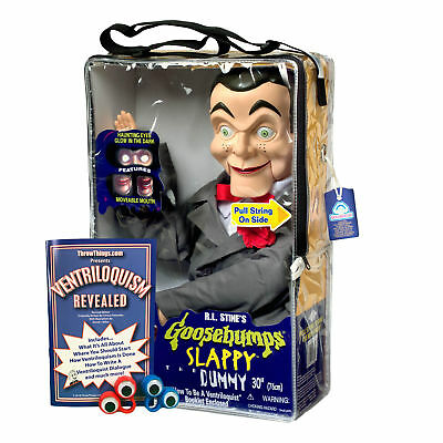 Bonus Bundle! Slappy / Goosebumps Ventriloquist Dummy Doll - New! Glowing Eyes!