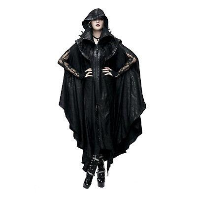 Mens Victorian Vampire Costume (Men's Womens Victorian Gothic Vampire Halloween Cosplay Costume Hooded Long)