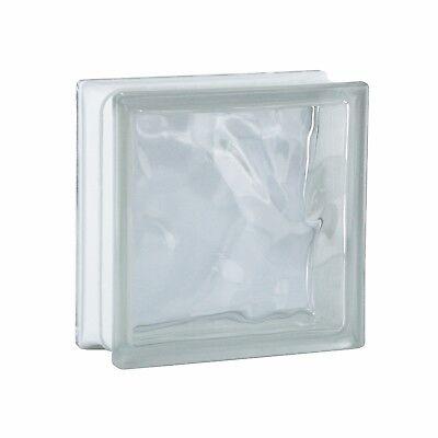 1 Paket (= 6 Stück) Glasbausteine Glasbaustein Glassteine WOLKE Klar 19x19x8cm