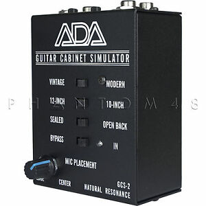 ada amplification gcs 2 guitar cabinet speaker simulator di direct box gcs2 new ebay. Black Bedroom Furniture Sets. Home Design Ideas