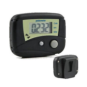 LCD Run Step Pedometer Walking Calorie Counter Distance Black Fast Ship From USA
