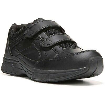 Dr. Scholl's Men's Brisk Wide Width Black Walking Casual Sneaker Shoes Velcro -