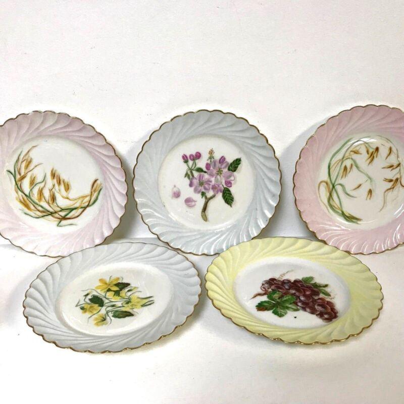 Set of 5 Hand Painted Haviland Limoges Salad Dessert Plates