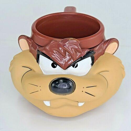 TAZ TAZMANIAN DEVIL PLASTIC 3D COFFEE MUG 1992 LOONEY TUNES CUP