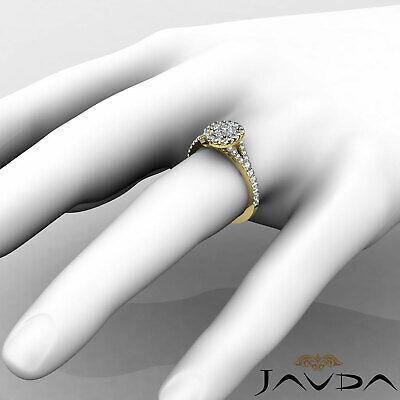 Halo Split Shank French U Pave Cushion Diamond Engagement Ring GIA F VS2 1.21 Ct 11