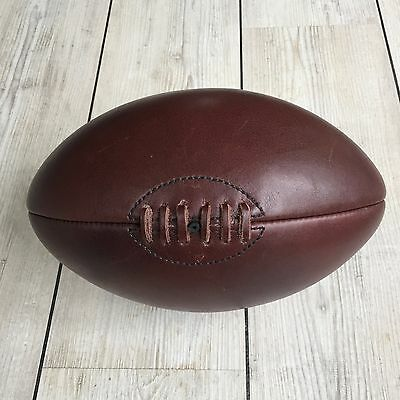 Authentic Leather Vintage Rugby Ball - 4 Panel, Retro Style