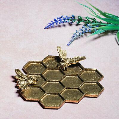 Sass & Belle Gold Honey Bee Hive Trinket Dish Jewellery Holder Pewter Metal