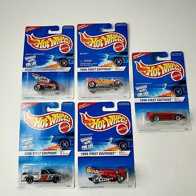 Vintage Hot Wheels | 1995 (1996) First Editions Lot of 5 Chevy 1500, Mustang GT