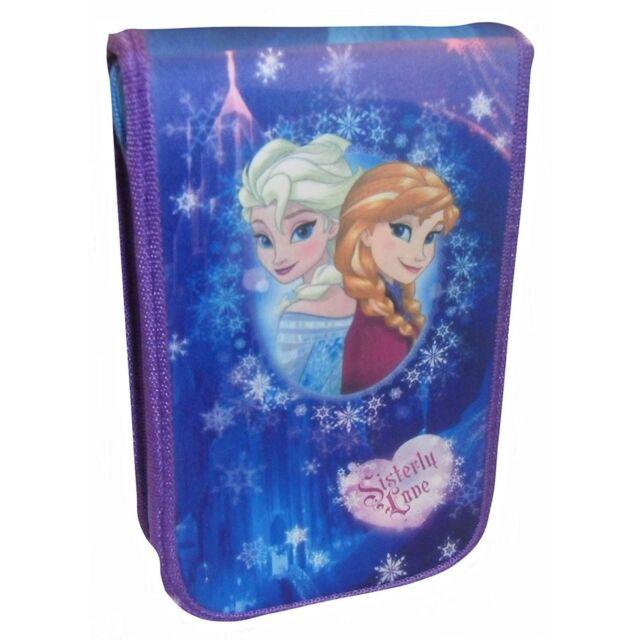 Disney Frozen 3D Pencil Case Set Olaf Anna Elsa Pencils Felt Tips Rubber New