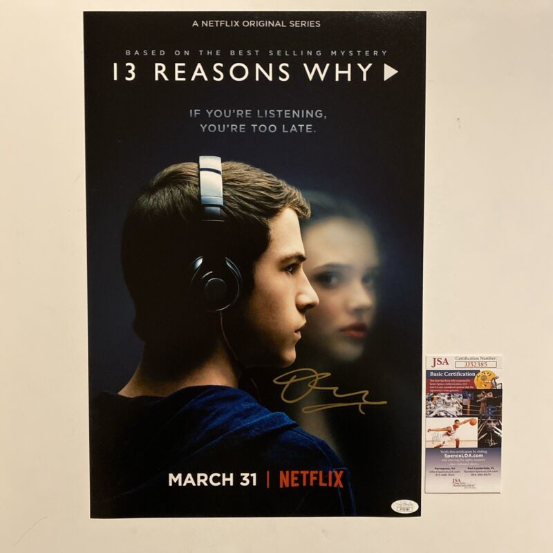 Dylan Minnette Signed 13 Reasons Why 12x18 Photo Autographed JSA COA