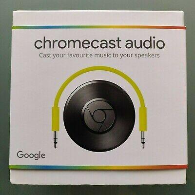 Google Chromecast Audio 2nd Generation Media Streamer | New | Sealed | UK Stock