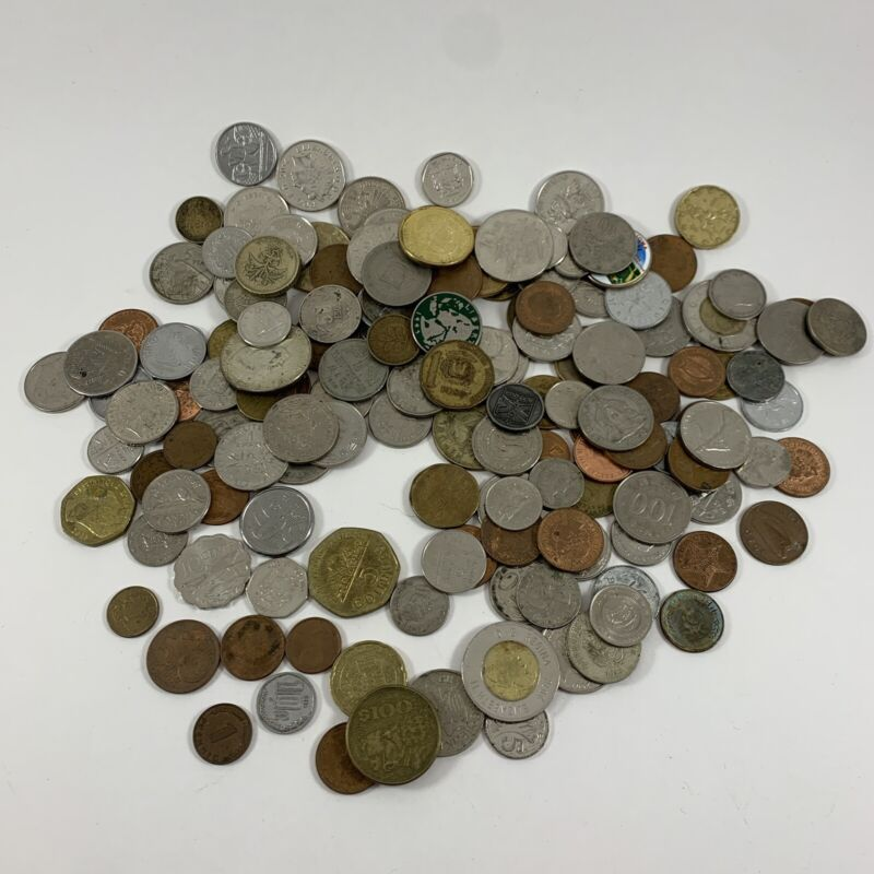 Lot of 50+ Old And New Foreign And American Coins